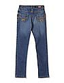 U.S. Polo Assn. Kids Girls Mid Rise Whiskered Jeans