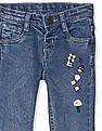 Donuts Blue Girls Embroidered Jeans