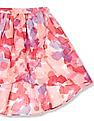 The Children's Place Girls Floral Print Hi-Low Wrap Skirt