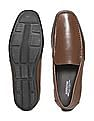 Arrow Square Toe Textured Loafers