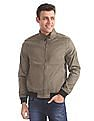 Arrow Sports Regular Fit Solid Bomber Jacket