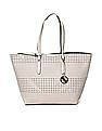 U.S. Polo Assn. Women Zip Pouch Cutwork Tote Bag
