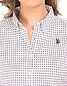U.S. Polo Assn. Women Printed Button-Down Shirt