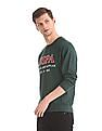 U.S. Polo Assn. Green Embroidered Front Crew Neck Sweatshirt