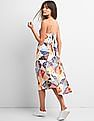 GAP Scarf Patchwork Fit And Flare Midi Dress