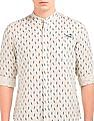 Ed Hardy Feather Print Linen Cotton Shirt