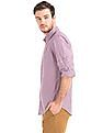 GAP Men Multi Colour True Wash Mini Checkered Standard Fit Shirt