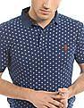 U.S. Polo Assn. Denim Co. Star Print Muscle Fit Polo Shirt