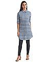 U.S. Polo Assn. Women Standard Fit Striped Shirt Dress