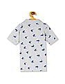 The Children's Place Toddler Boy Grey Short Sleeve Printed Knit Polo