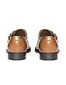 Johnston & Murphy Burnished Leather Monk Strap Shoes