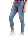 U.S. Polo Assn. Women Blue Super Skinny Fit Stone Wash Jeans