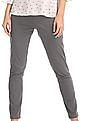 Cherokee Grey Mid Rise Regular Fit Trousers