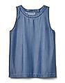 GAP Women Blue Tencel Tulip-Back Tank