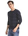 Ruggers Blue Crew Neck Striped T-Shirt