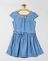 GAP Girls Denim Tie-Belt Dress