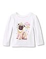 The Children's Place Baby Girl Long Sleeve Graphic T-Shirt