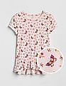 GAP Girls Pink Floral Print Layered Ruffled T-Shirt