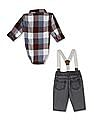 The Children's Place Assorted Baby Bodysuit And Jeans With Suspenders Set