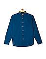 Flying Machine Long Sleeve Solid Shirt