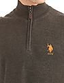 U.S. Polo Assn. Patterned Half Zip Sweater